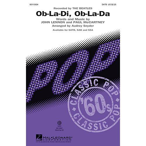Hal Leonard Ob-La-Di, Ob-La-Da (ShowTrax CD) ShowTrax CD by The Beatles Arranged by Audrey Snyder