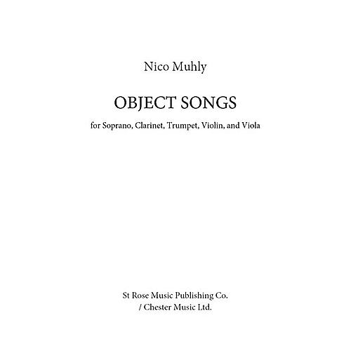 St. Rose Music Publishing Co. Object Songs Music Sales America Series Softcover by Nico Muhly