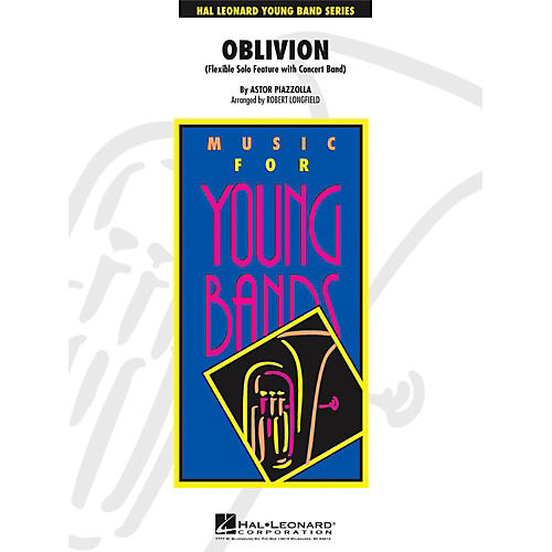 Hal Leonard Oblivion - Solo Feature for Flute, Oboe, Clarinet, Alto Sax or Trumpet with Band Level 3