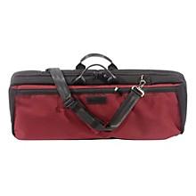 Oblong Violin Case Slip-On Cover Burgundy with Backpack Straps