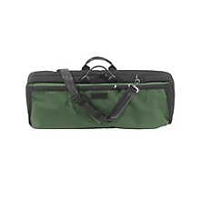 Oblong Violin Case Slip-On Cover Green with Backpack Straps