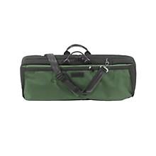 Oblong Violin Case Slip-On Cover Green with Shoulder Strap
