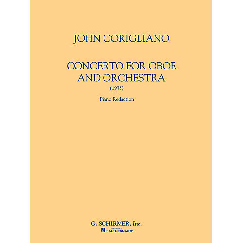 G. Schirmer Oboe Conc (Score and Parts) Woodwind Solo Series by John Corigliano