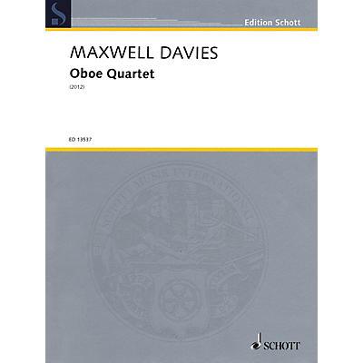 Schott Oboe Quartet Ensemble Series by Peter Maxwell Davies