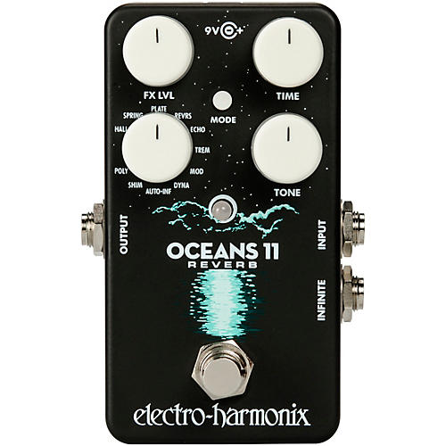 Electro-Harmonix Oceans 11 Multifunction Digital Reverb Effects Pedal