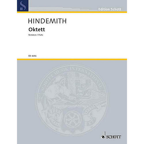Schott Octet (Set of Parts) Schott Series by Paul Hindemith