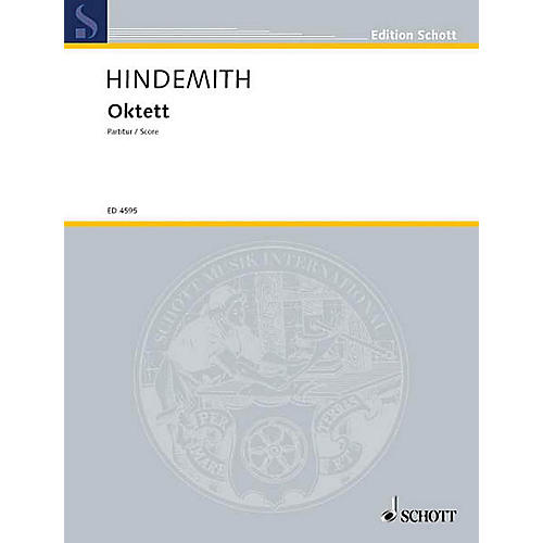 Schott Octet (Study Score) Schott Series Composed by Paul Hindemith