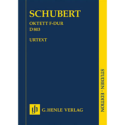 G. Henle Verlag Octet in F Major D 803 Henle Study Scores Series Softcover Composed by Franz Schubert