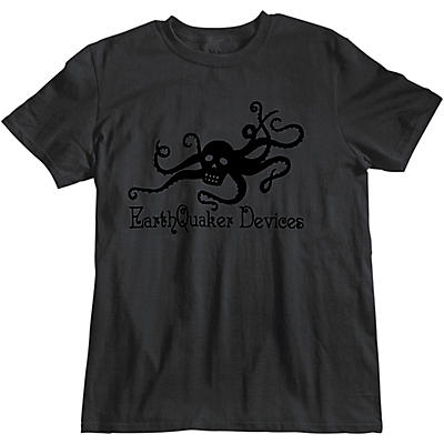 Earthquaker Devices Octoskull T-Shirt - Black on Black