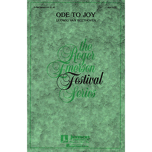 Hal Leonard Ode to Joy 3-Part Mixed arranged by Roger Emerson