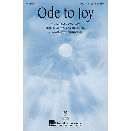 Hal Leonard Ode to Joy CHOIRTRAX CD Arranged by Keith Christopher