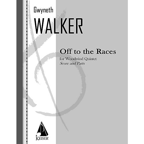 Lauren Keiser Music Publishing Off to the Races for Woodwind Quintet LKM Music Series by Gwyneth Walker