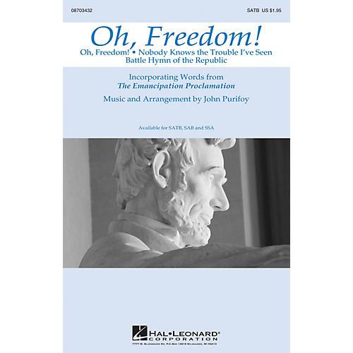 Hal Leonard Oh, Freedom! (Medley) SATB arranged by John Purifoy