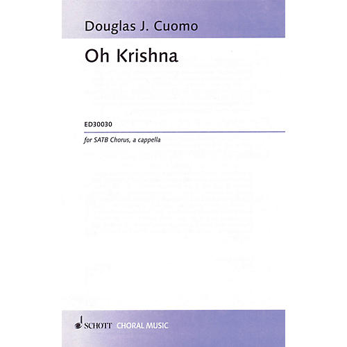 Hal Leonard Oh Krishna (SATB) SATB Composed by Douglass Cuomo