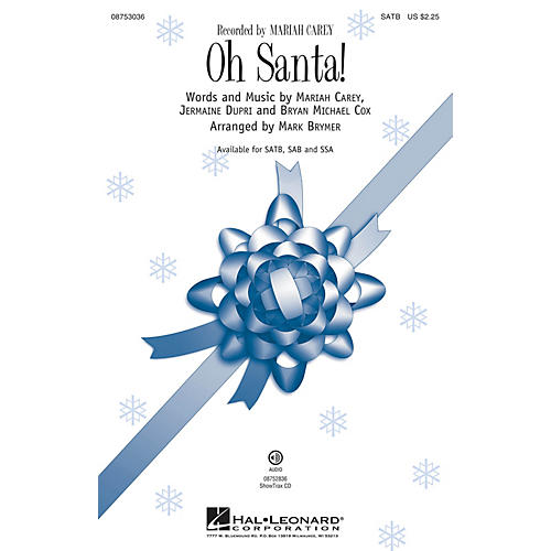 Hal Leonard Oh Santa! ShowTrax CD by Mariah Carey Arranged by Mark Brymer