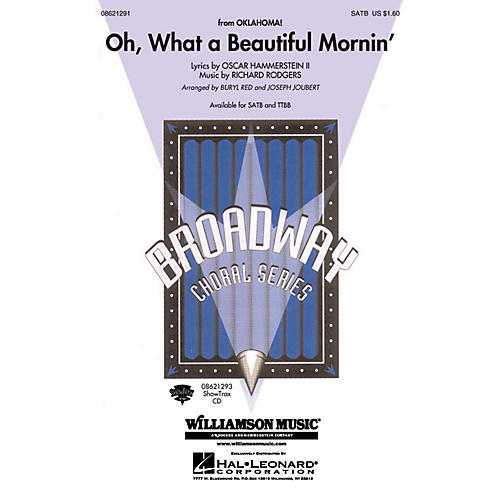 Hal Leonard Oh What a Beautiful Mornin' (from Oklahoma!) TTBB Arranged by Buryl Red