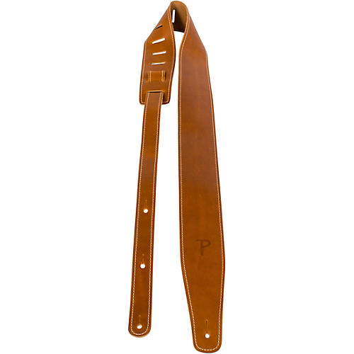 Perri's Oil Leather Guitar Strap With Contrast Stitching