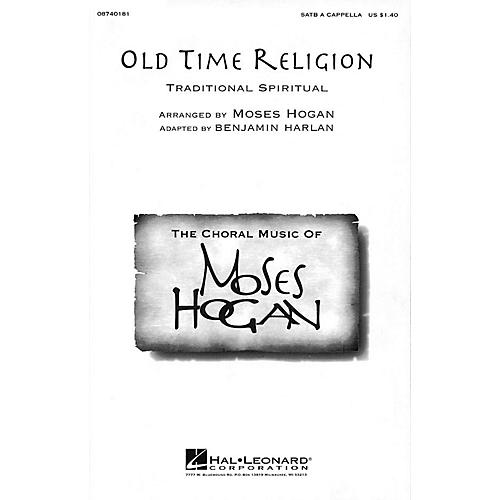 Hal Leonard Old Time Religion SATB a cappella arranged by Moses Hogan