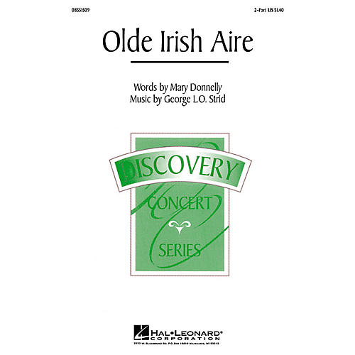Hal Leonard Olde Irish Aire (2-Part and Piano) 2-Part composed by Mary Donnelly