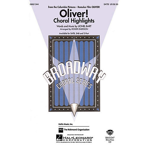 Hal Leonard Oliver Choral Highlights SAB Arranged by Roger Emerson