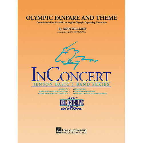 Hal Leonard Olympic Fanfare and Theme - Discovery Plus Concert Band Series Level 1 arranged by Eric Osterling