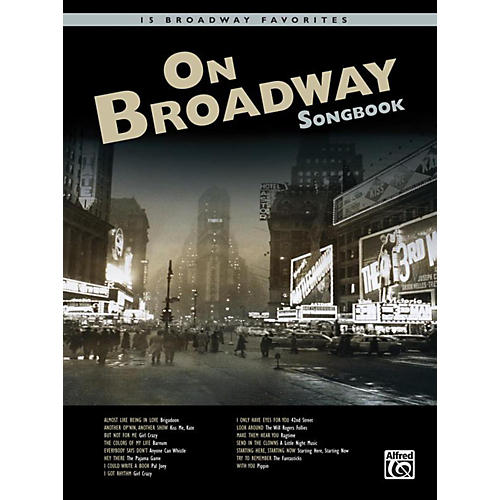 Alfred On Broadway Songbook Book & CD