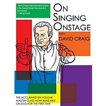Applause Books On Singing Onstage Applause Acting Series Series DVD Written by David Craig
