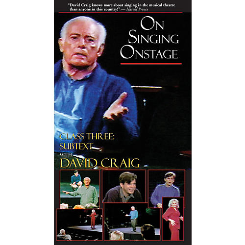 Applause Books On Singing Onstage with David Craig (Class Three: Subtext) Applause Books Series Video by David Craig