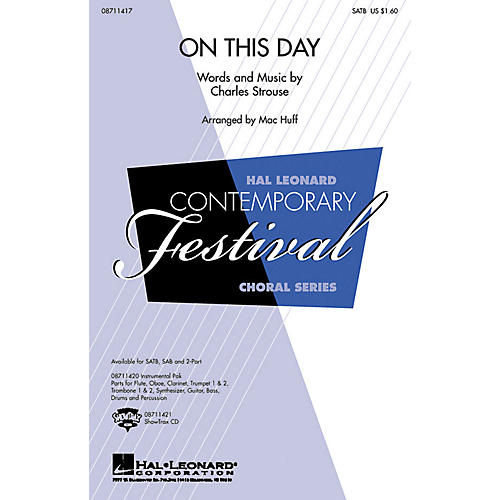Hal Leonard On This Day SAB Arranged by Mac Huff