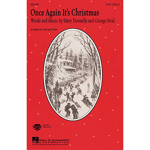 Hal Leonard Once Again It's Christmas 2-Part composed by Mary Donnelly