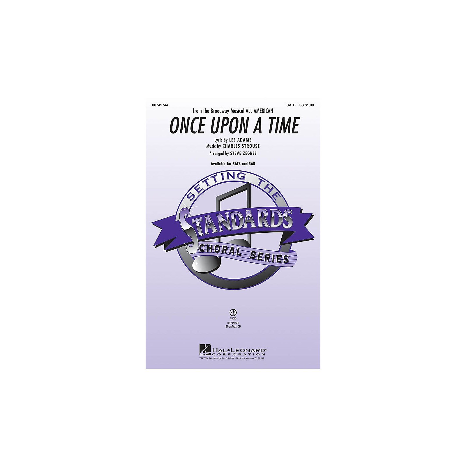 Hal Leonard Once Upon a Time SATB arranged by Steve Zegree