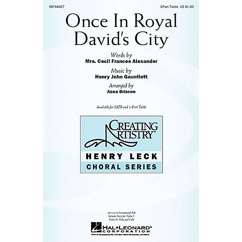 Hal Leonard Once in Royal David's City IPAKS Arranged by Anna Briscoe