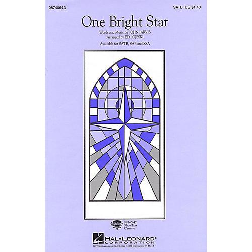 Hal Leonard One Bright Star SATB by Vince Gill arranged by Ed Lojeski