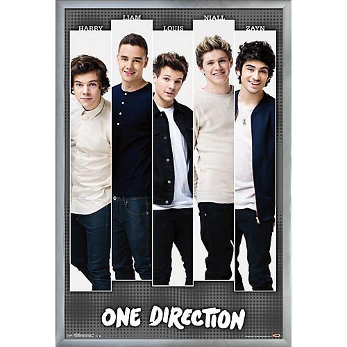 Trends International One Direction - Bars Poster Framed Silver