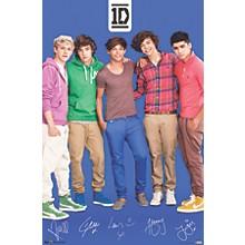 One Direction - Blue Poster Premium Unframed