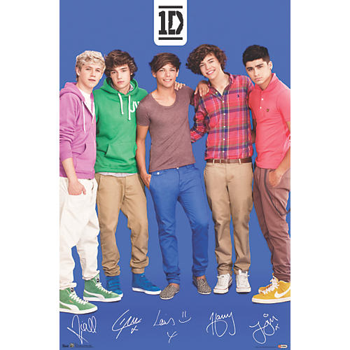 Trends International One Direction - Blue Poster Premium Unframed