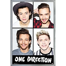 One Direction - Grid Poster Framed Silver