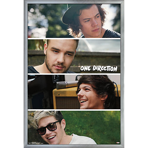 Trends International One Direction - Group Collage Poster Framed Silver