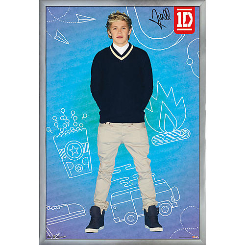 Trends International One Direction - Niall Pop Poster Framed Silver