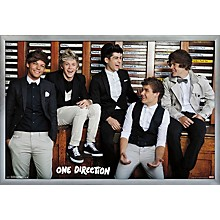 One Direction - Style Poster Framed Silver