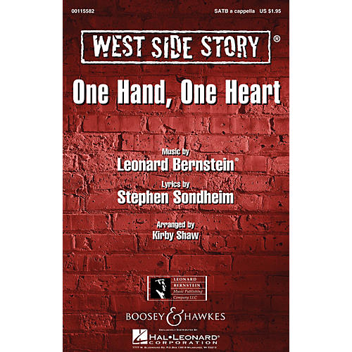 Leonard Bernstein Music One Hand, One Heart (from West Side Story) SSAA A Cappella Arranged by Kirby Shaw
