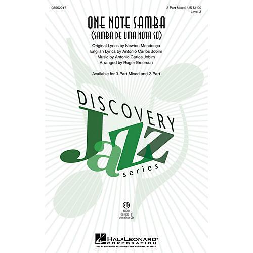 Hal Leonard One Note Samba (Samba de uma nota só) 3-Part Mixed by Antonio Carlos Jobim arranged by Roger Emerson