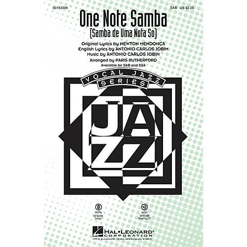 Hal Leonard One Note Samba (Samba de uma nota só) ShowTrax CD Arranged by Paris Rutherford