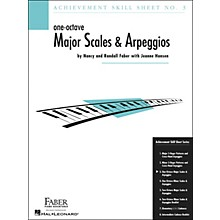 Faber Piano Adventures One-Octave Major Scales And Arpeggios Skill Sheet No.3 - Faber Piano