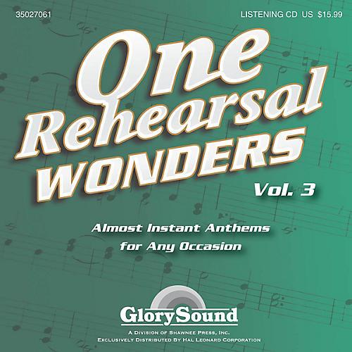 Shawnee Press One Rehearsal Wonders, Volume 3 Listening CD composed by J. Paul Williams