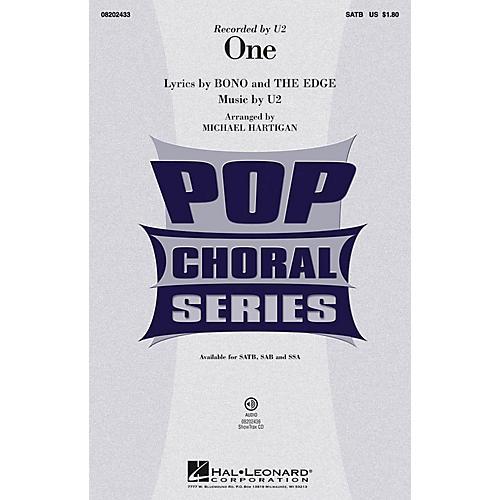 Hal Leonard One SAB by U2 Arranged by Michael Hartigan