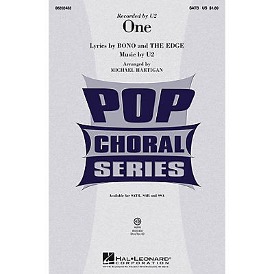 Hal Leonard One SATB by U2 arranged by Michael Hartigan