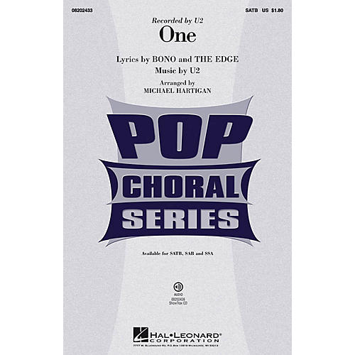 Hal Leonard One ShowTrax CD by U2 Arranged by Michael Hartigan