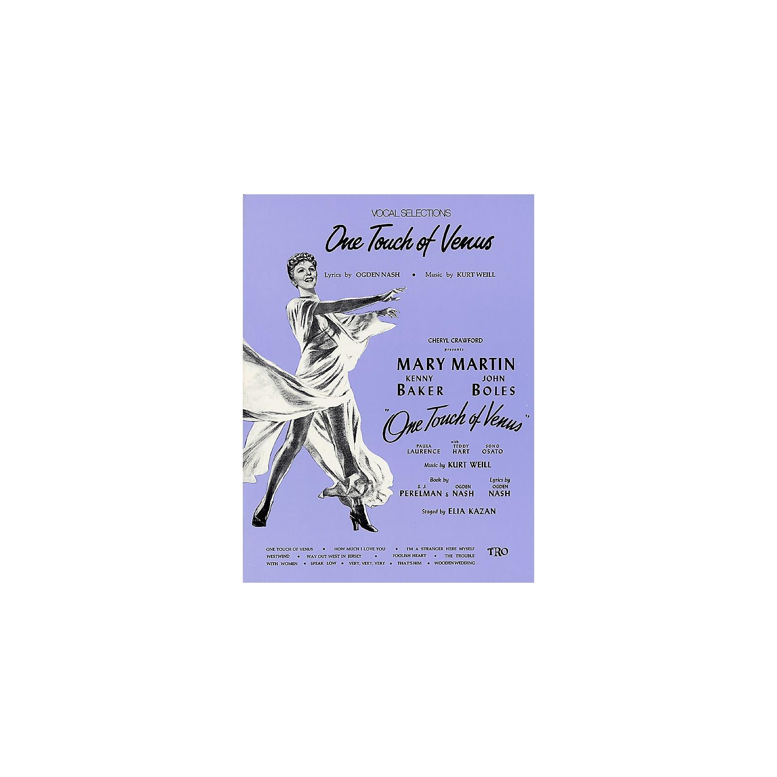 TRO ESSEX Music Group One Touch of Venus Richmond Music ¯ Folios Series