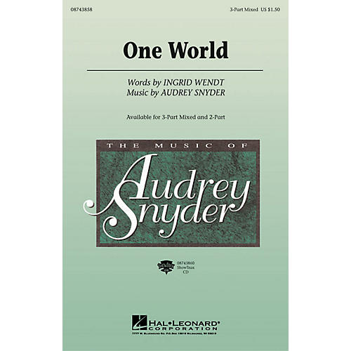Hal Leonard One World ShowTrax CD Composed by Audrey Snyder